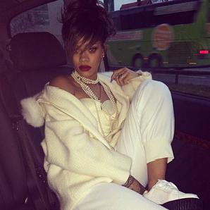 Rihanna wearing PUMA sneakers